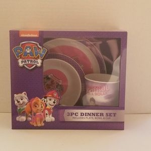 Nickelodeon 3PC Purple  Dinner Set Includes Plate,